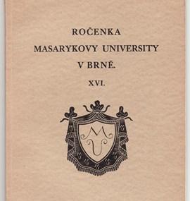 Ročenka MU 1934 / 35