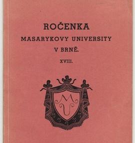 Ročenka MU 1936 / 37