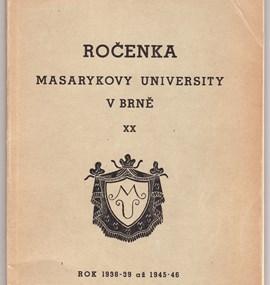 Ročenka MU 1938/39 - 1945/46
