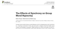 Synchronizace a skupinové morální pokrytectví