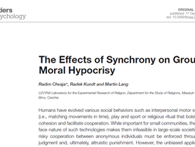 Synchrony and group moral hypocrisy