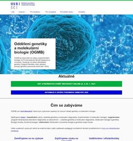 PřF - Oddělení genetiky a molekulární biologie