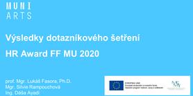 HR Award – Proběhla prezentace výsledků Dotazníkového šetření HR Award FF MU 2020 pro zaměstnance FF MU