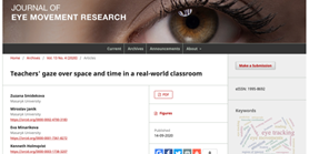 Nový článek: Teachers' gaze over space and time in a real-world classroom
