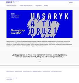 Masaryk Days 2021 | Masaryk university
