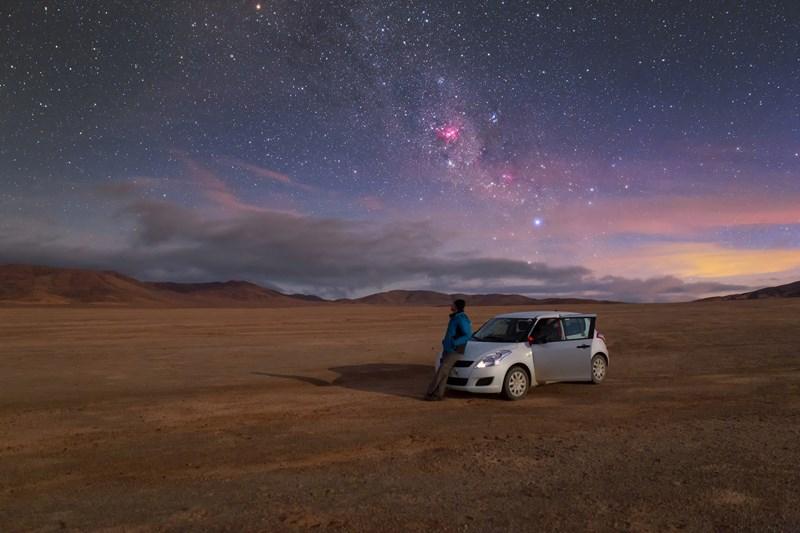 Credit: Petr Horálek, duben 2015, nebe nad pouští Atacama