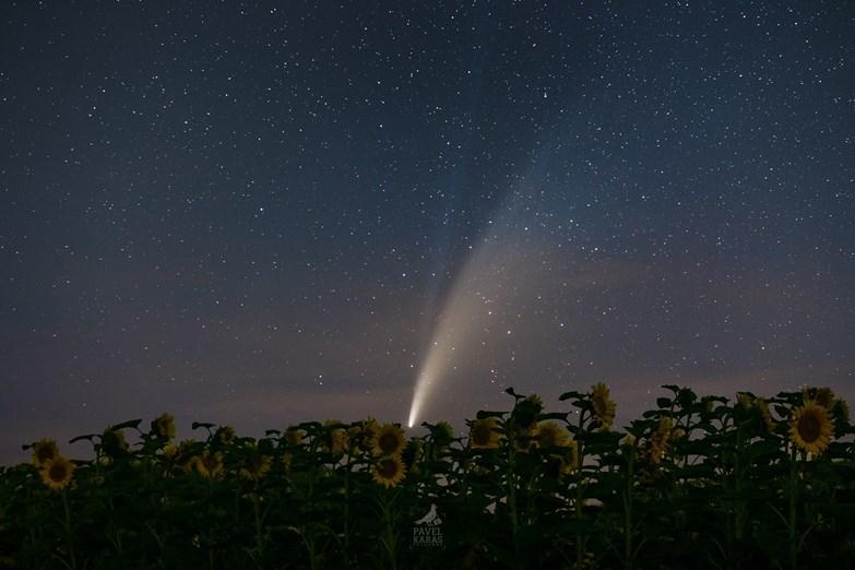 Credit: Pavel Karas, červenec 2020, snímek komety Neowise