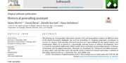 Historical Geocoding Assistant in SoftwareX