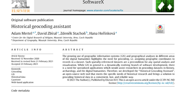 Historical Geocoding Assistant in SoftwareX