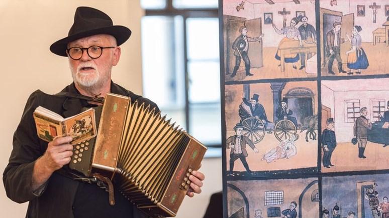 Na vernisáži nechybělo hudební vystoupení. Zdroj: Moravské zemské muzeum