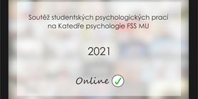 Soutěž studentských psychologických prací 2021 - online