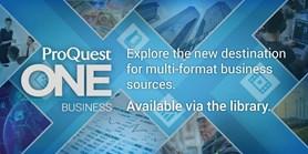 Zkušební přístup kunikátní databázi ProQuest One Business