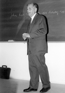 Jan Firbas, lecturing.