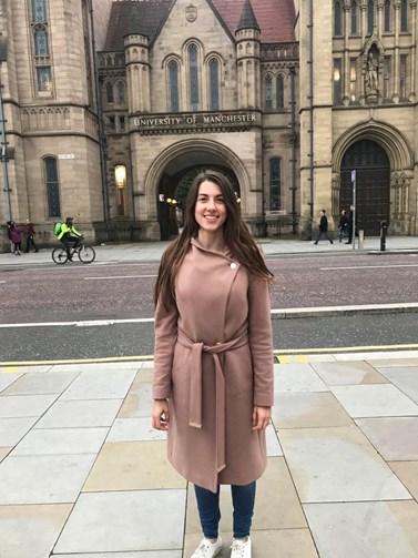 Veronika Fawad studovala navazující studium v Manchesteru. Foto: archiv Veroniky Fawad