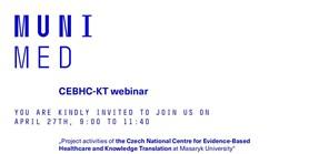 Pozvánka na přednáškový den CEBHC-KT