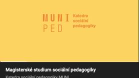 Video k magisterskému studiu na Katedře sociální pedagogiky 2021