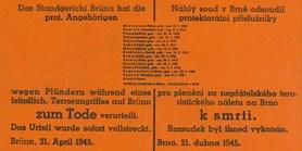 Nacisté terorizovali Brňany do poslední chvíle, říká historik