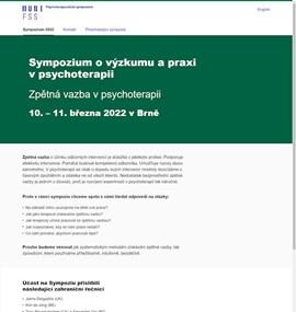 Psychoterapeutické sympozium | MUNI FSS