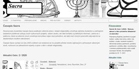 Časopis Sacra má nový web
