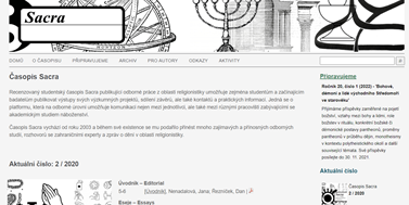 The journal Sacra has anew website