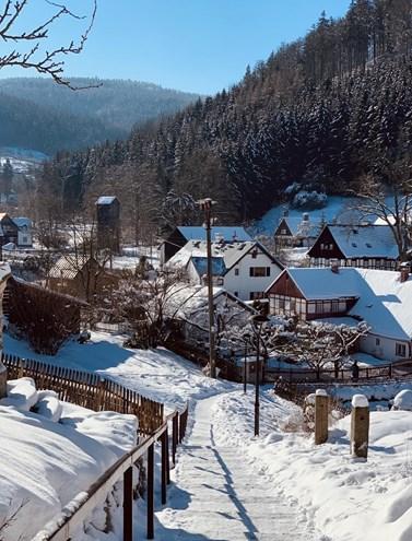Czech winter, Světlá pod Ještědem