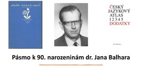Pásmo k 90. narozeninám dr. Jana Balhara