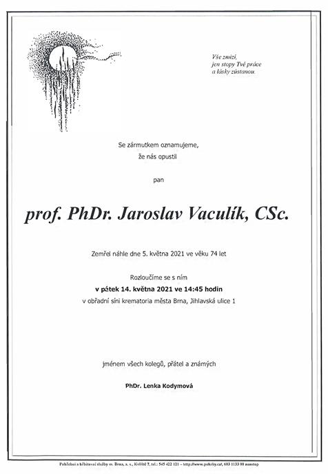 Prof. Vaculík - parte