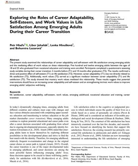 Exploring the Roles of Career Adaptability, Self-Esteem, and Work Values in Life Satisfaction Among Emerging Adults During their Career Transition
