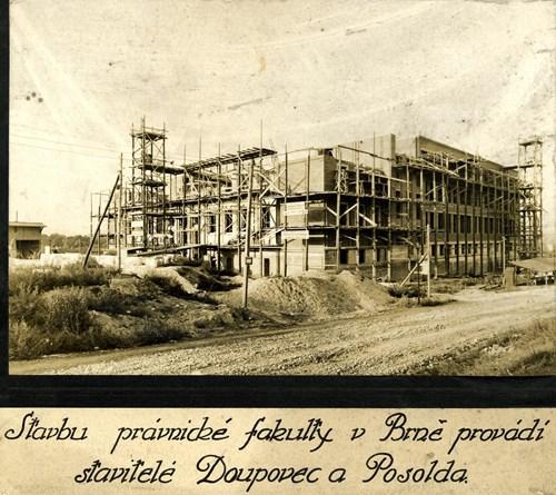 Stavba právnické fakulty – začátek 30. let Foto: Masarykova univerzita