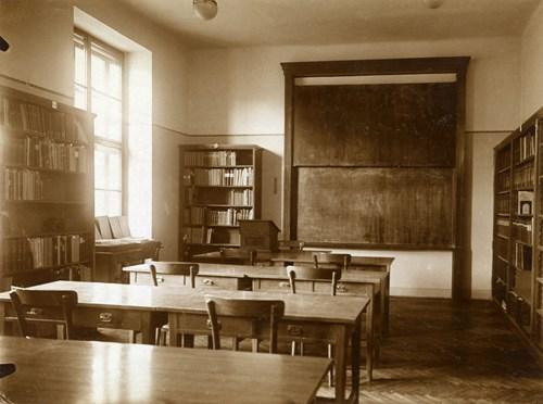Historická učebna filozofické fakulty – 20. léta Foto: Masarykova univerzita