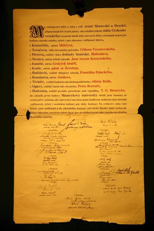Základní kámen právnické fakulty Foto: Masarykova univerzita