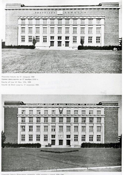 Právnická fakulta před válkou a během ní Foto: Masarykova univerzita