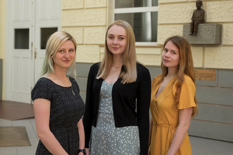 Zleva: Alena Smetanová, Eliška Buršová a Tereza Kompauerová