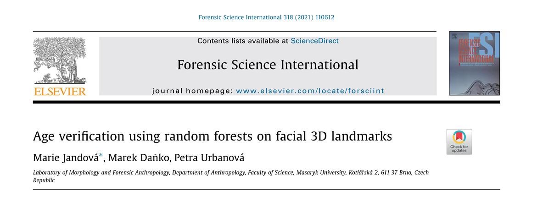 Jandová et al. 2021 – Forensic Science International