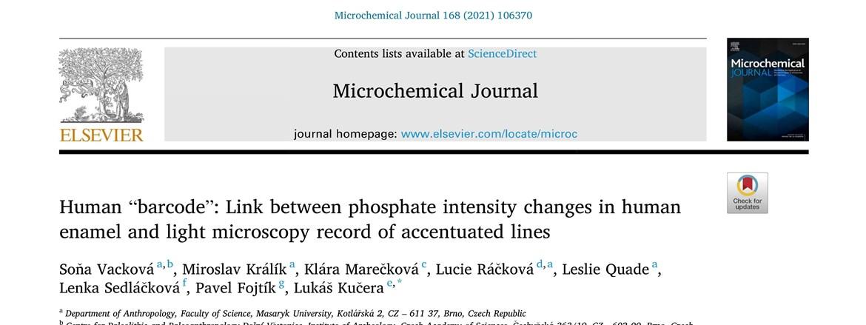 Vacková et al. 2021 – Microchemical Journal