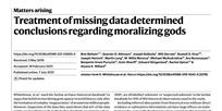 Chybějíci bohové nebo data?