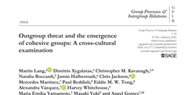 Outgroup threat and group cohesion