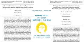 Commentaries on the book Hearing Voices and Other Matters of the Mind