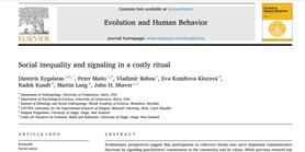 Ritual signaling and social hierarchy