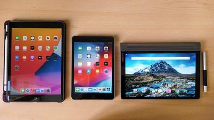 Apple iPad, Apple iPad mini, Lenovo Yoga Tab 3 Plus