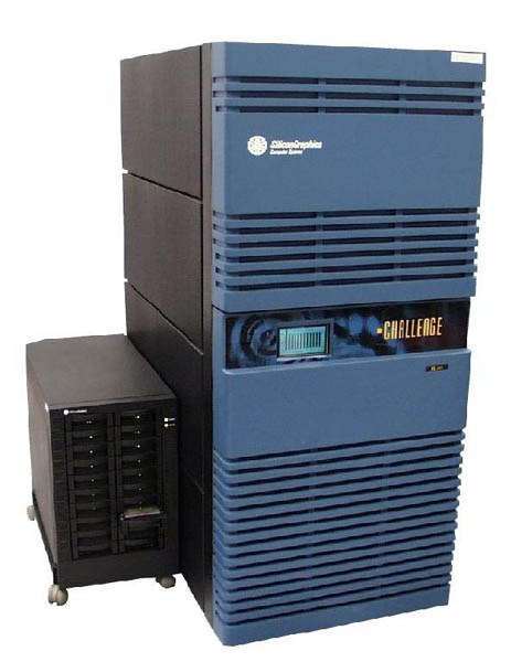 SGI Power Challenge XL with 12 MIPS R10000 processors, the most powerfull computer for the Czech academic community at that time (4.8 GFLOPS), member of the TOP 500 list of the 500 most powerfull computers in the world.