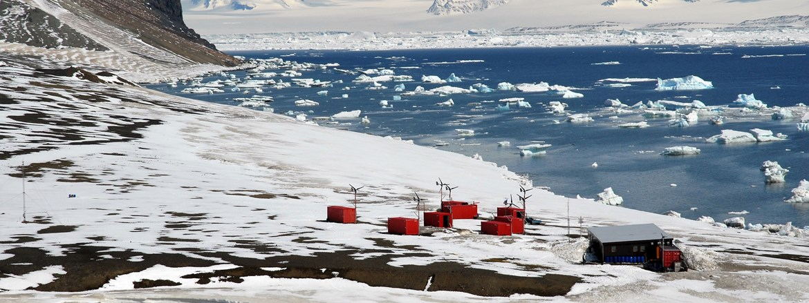 Antarctic station J. G. Mendel located on James Ross Island