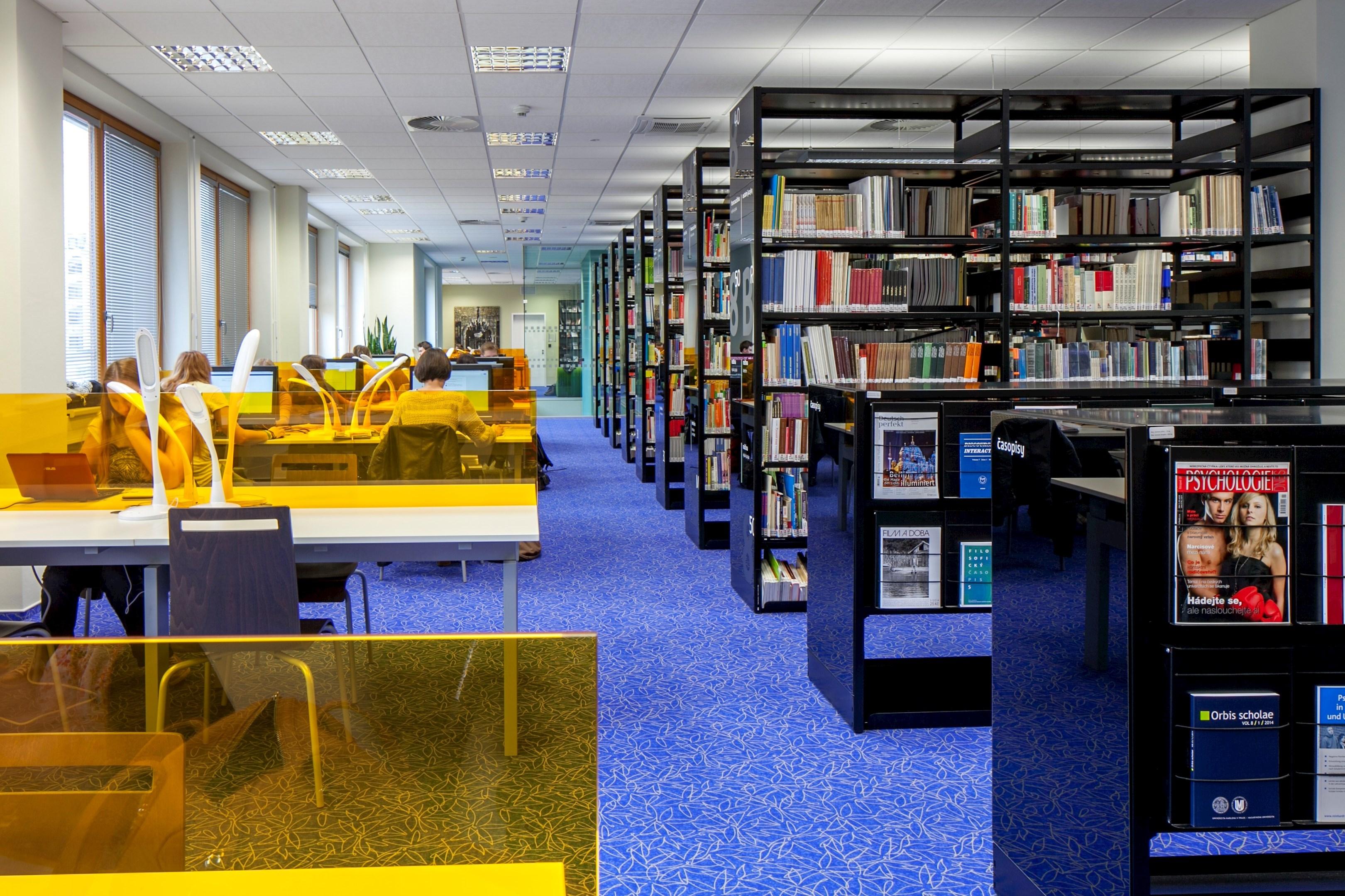 Moderní prostory knihovny Pedagogické fakulty MU