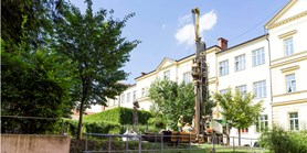 New 30-metre borehole at the Faculty of Science