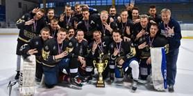 Zlatý hattrick: Hokejisté Muni se stali potřetí akademickými mistry