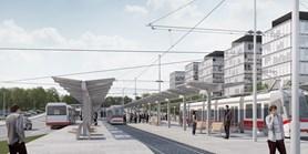 Začalastavba tramvajové trati k univerzitnímu kampusu
