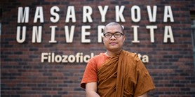 I'd love to spend the rest of my days in Brno, says a Buddhist monk